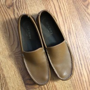 Sperry Loafers - tan leather driving shoes